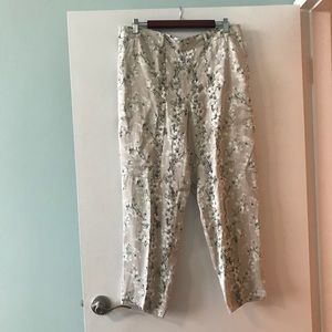 NWT Club Monaco floral silky pants